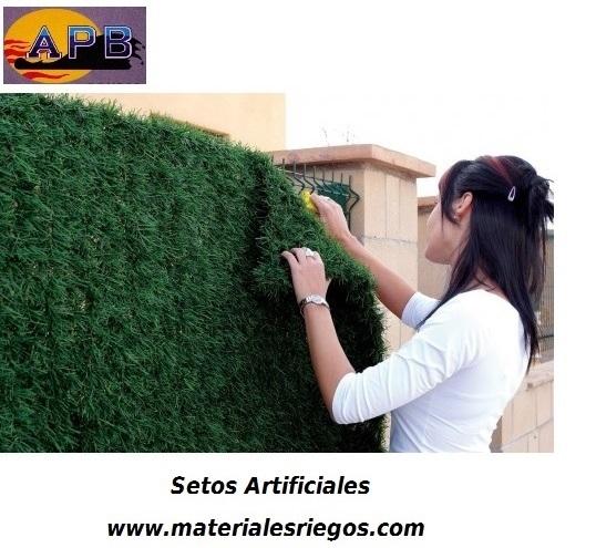 Seto artificial ocultaci n verde 30 varillas 2x3 mts precios for Seto redondo artificial